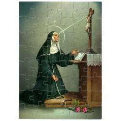 48 Puzzle pieces  St. Rita...