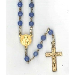 Rosary gold plated Blue...