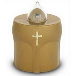 Lampe de cimetière dorée...