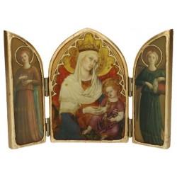 Tryptique Arrondi Vierge Du...