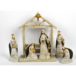 Christmas crib with 6...