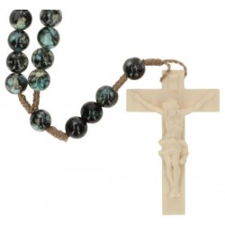 Rosary rope  Black Marbled...