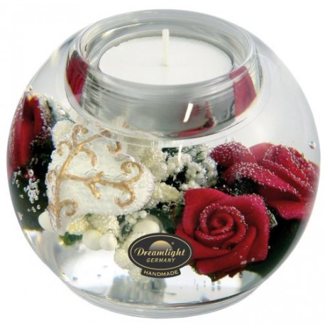 Bougeoir/Chauffe-Plat 09 Cm Pretty Rose