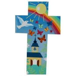 Kruisbeeld 35 Cm Kerk + Vlinders
