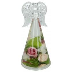 Theelichthouder 14 cm angel smart Charlotta