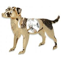 Figuurtje hond Pl-Or + Swarovsky